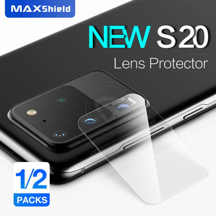MAXSHIELD Galaxy S20 Plus Camera Lens Tempered Glass Screen Protector