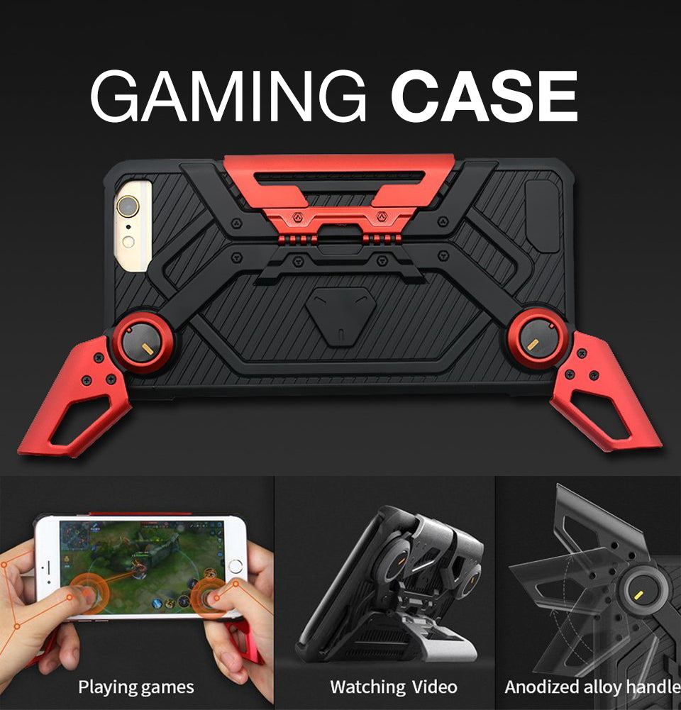 iPhone 7 Plus Game Case, Foldable Kickstand ShockProof Heavy Duty Protective Cove