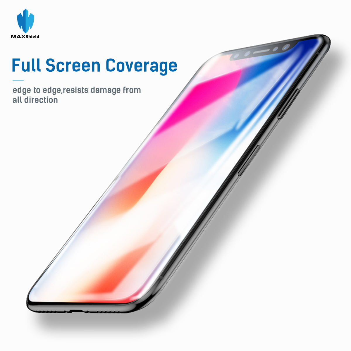 MAXSHILD 5D Full Coverage Glass Screen Protector For Apple iPhone 8 ( White)