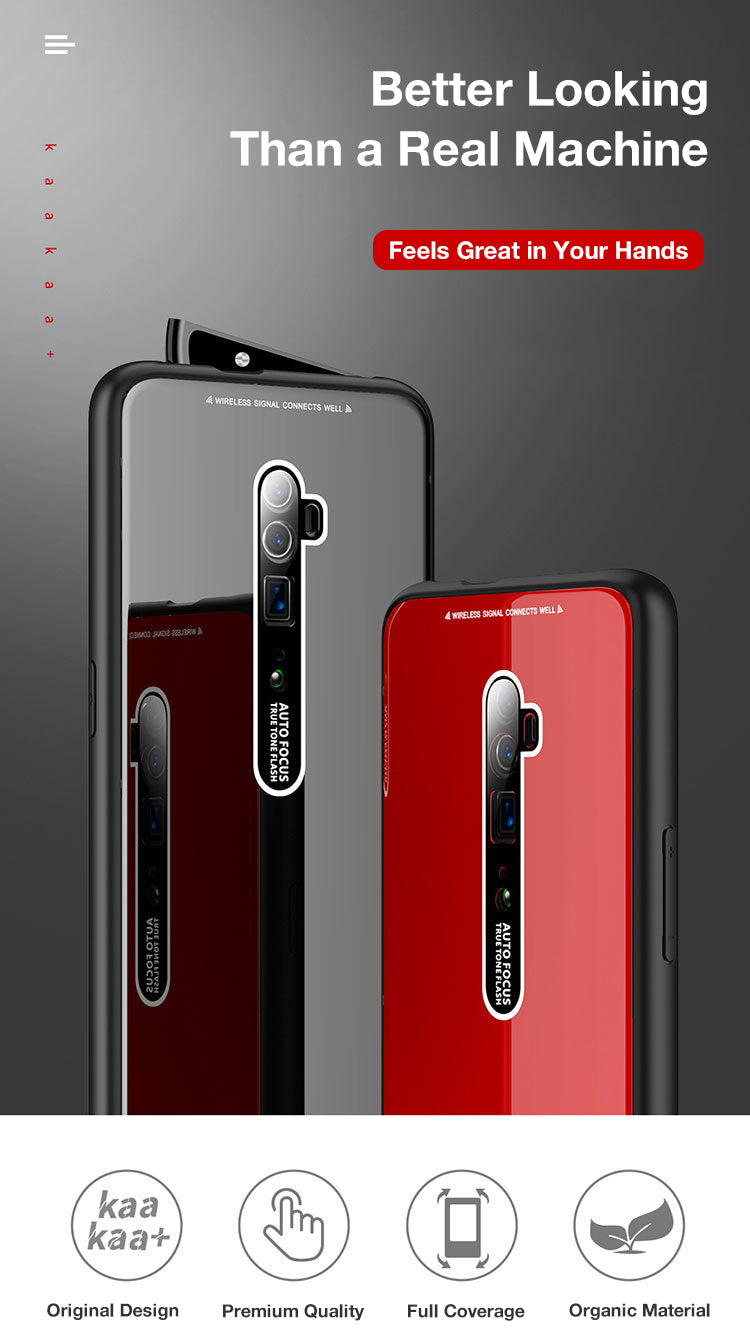 OPPO Reno 10x Zoom Case Cover, Shockproof Hybrid Toughen Glass Bumper