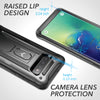Galaxy S10 Plus Case, Genuine MAXSHIELD Ultra Hybrid Bumper Hard Cover Samsung (Black)