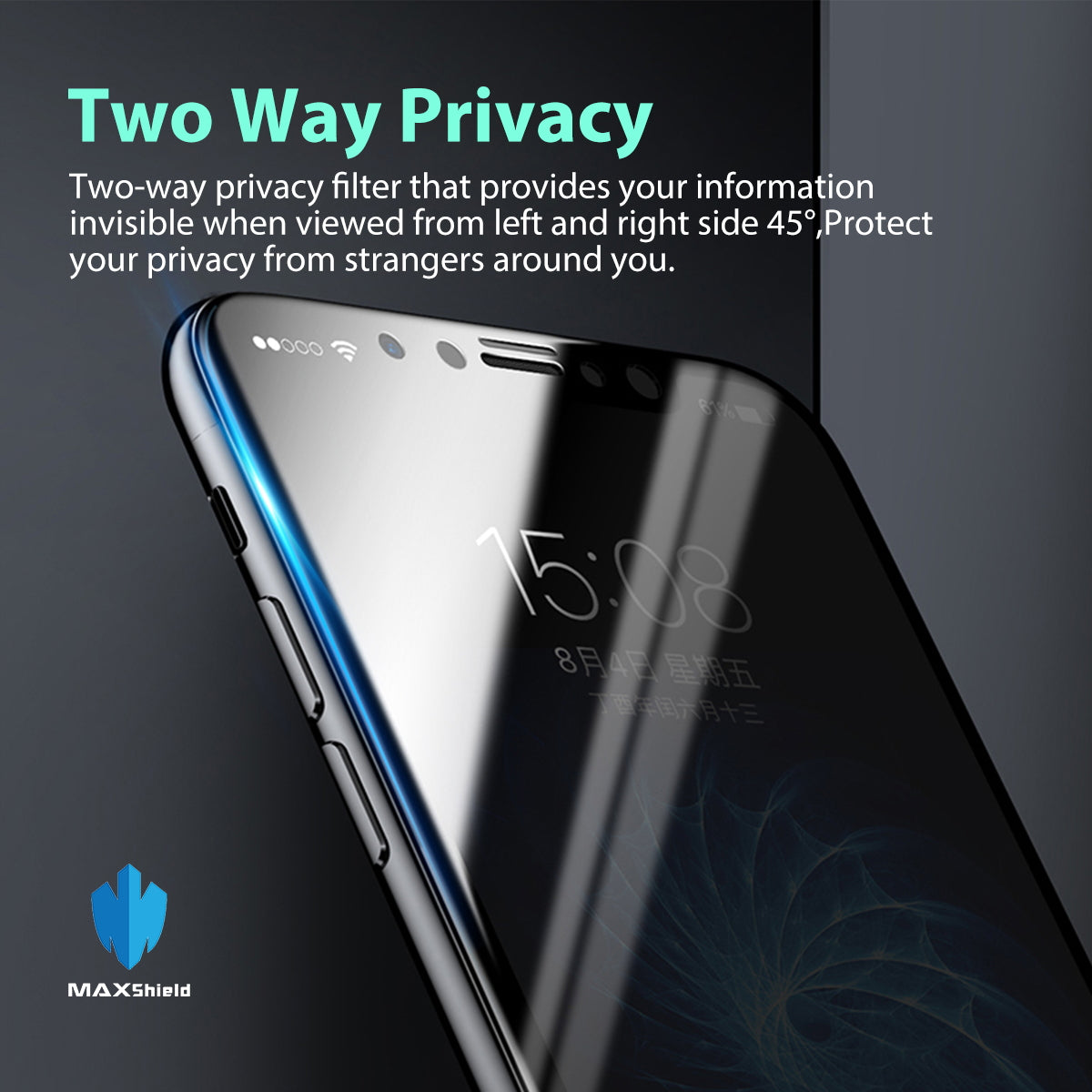 ANTI-SPY PRIVACY TEMPERED GLASS SCREEN PROTECTOR FOR iPhone X