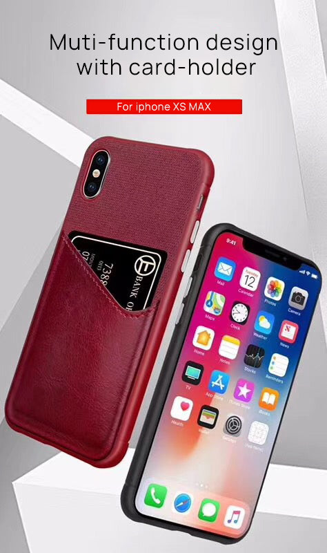 iPhone XS MAX  Wallet Case Leather Slim Layered Card Slot Cover