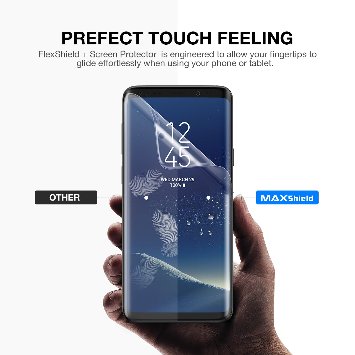 Maxshield FLEXPro+ Screen Protector with Super Easy Kit for Samsung Galaxy S9 Plus