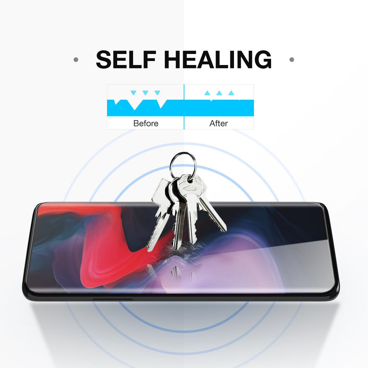 OnePlus 7 Screen Protector, MaxShield HD Aqua Crystal for OnePlus 7