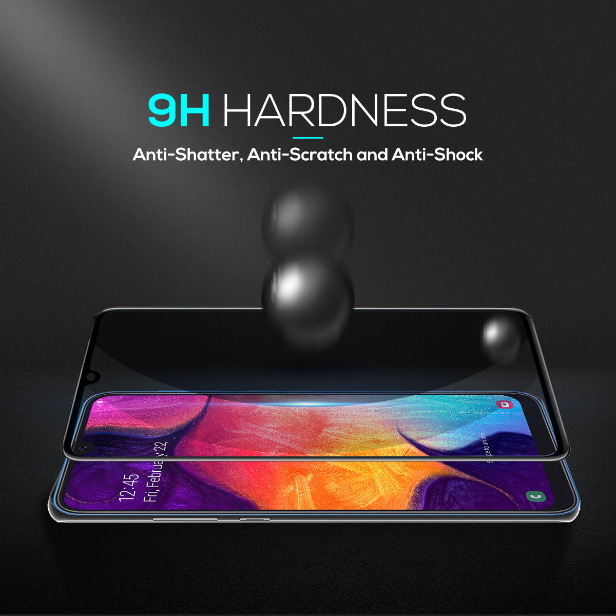 Samsung Galaxy A30 Full Coverage Tempered Glass Film HD Screen Protector