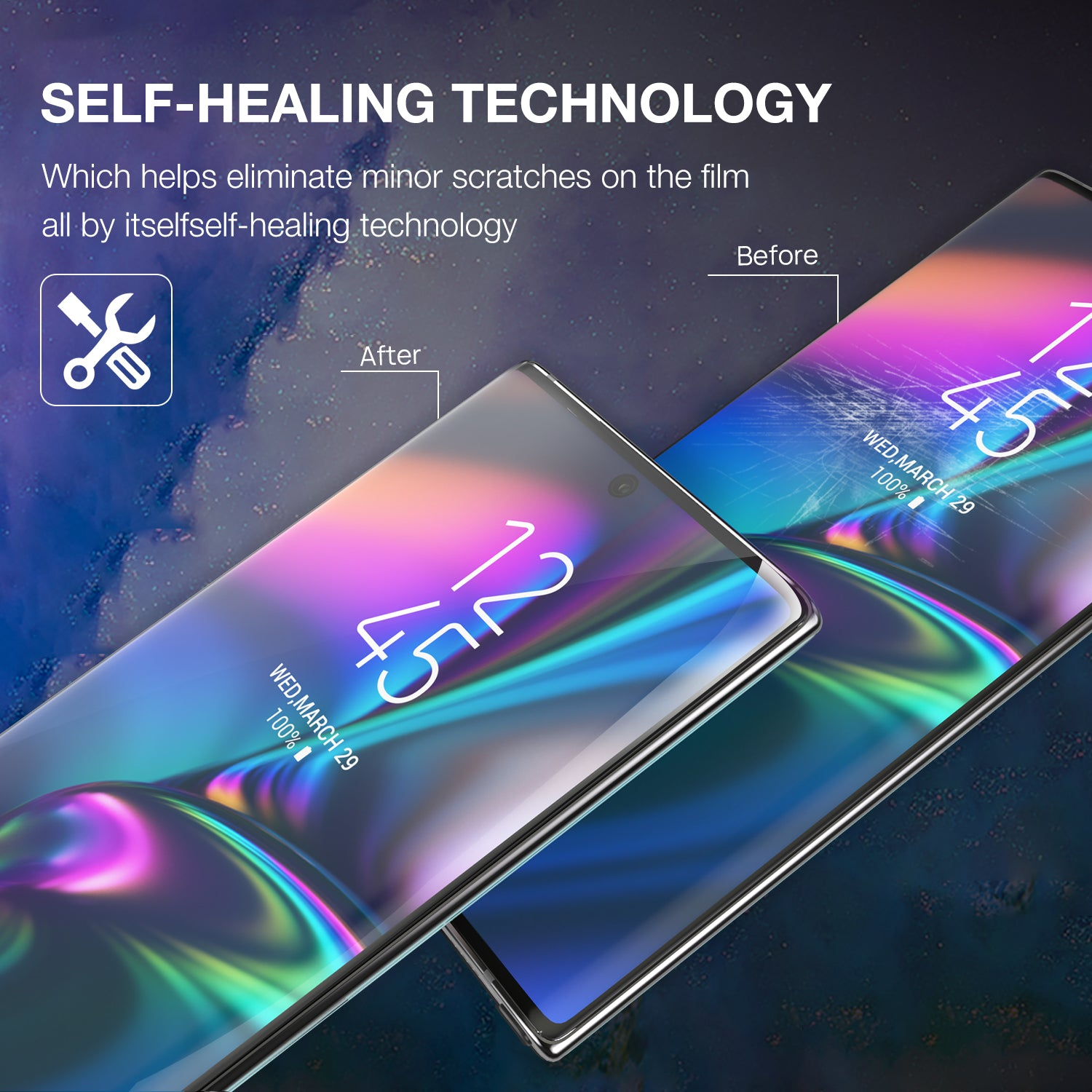 GALAXY NOTE 10 Plus MAXSHIELD HYDROGEL AQUA FLEXIBLE Crystal Film Screen Protector