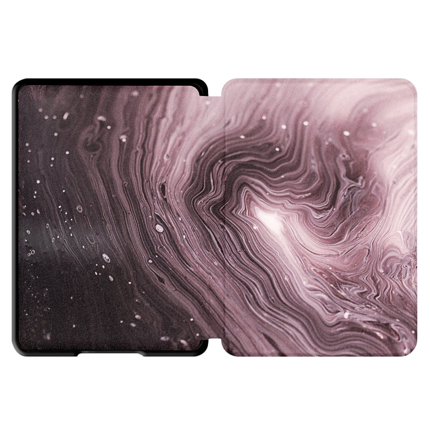 "For Kindle Paperwhite 2018 6"" 10th Gen Cover Case Smart Pattern Leather Cover-Purple marble"