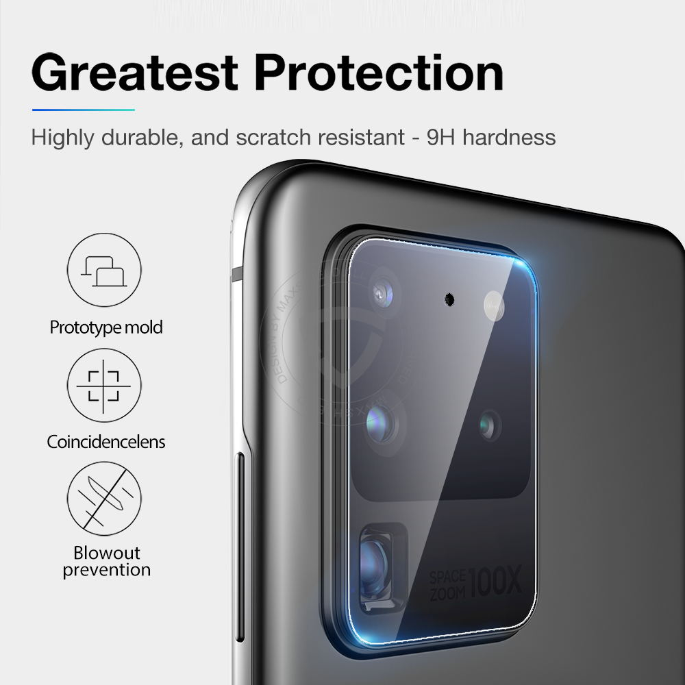 MAXSHIELD Galaxy S20 Camera Lens Tempered Glass Screen Protector