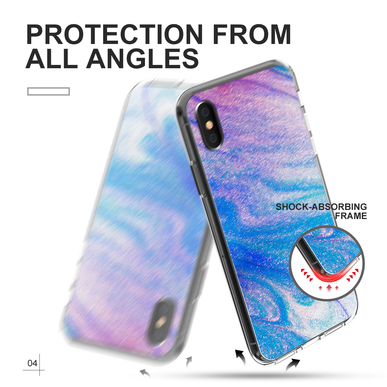 iPhone X Cover, Slim Shockproof Clear TPU Bumper Clear Case