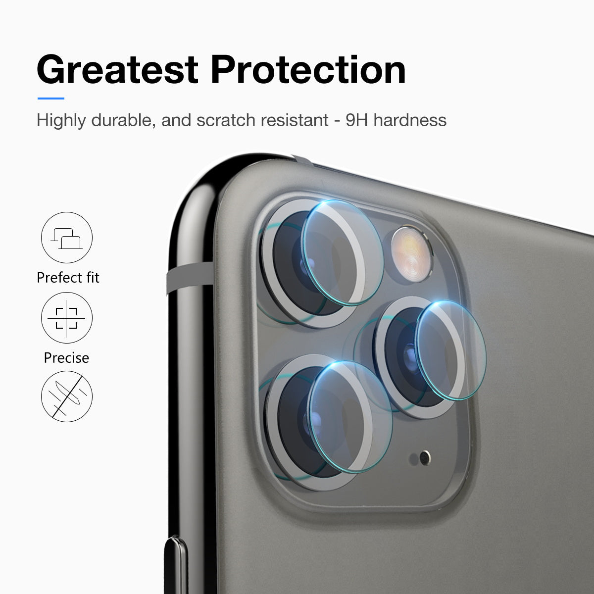 MAXSHIELD iPhone 11 Camera Lens Tempered Glass Screen Protector