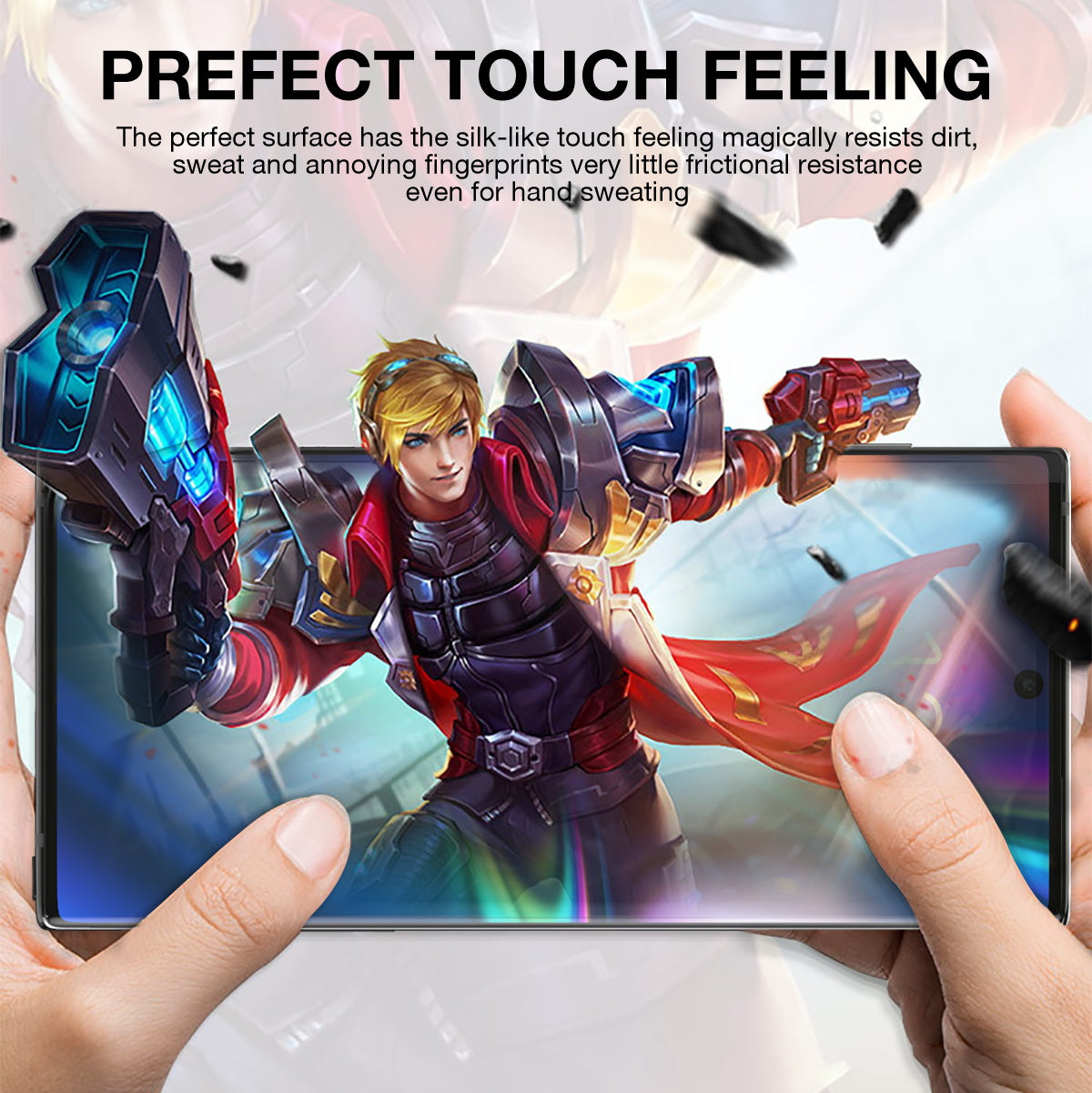 Galaxy Note 10 Plus Screen Protector MaxShield HD Aqua Crystal for Samsung