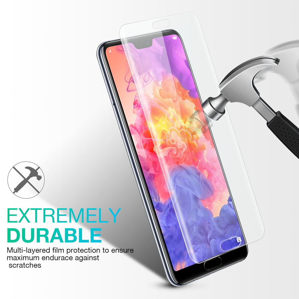Huawei P20 Pro Screen Protector,Genuine MaxShield HD Aqua Crystal Film Guard