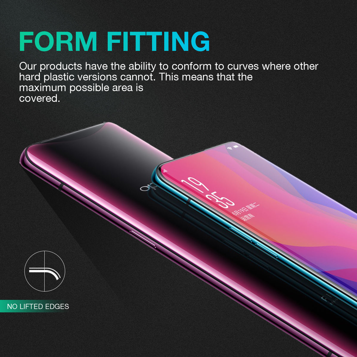 OPPO Find X Screen Protector, Genuine MaxShield Aqua Crystal Shield for OPPO Find X