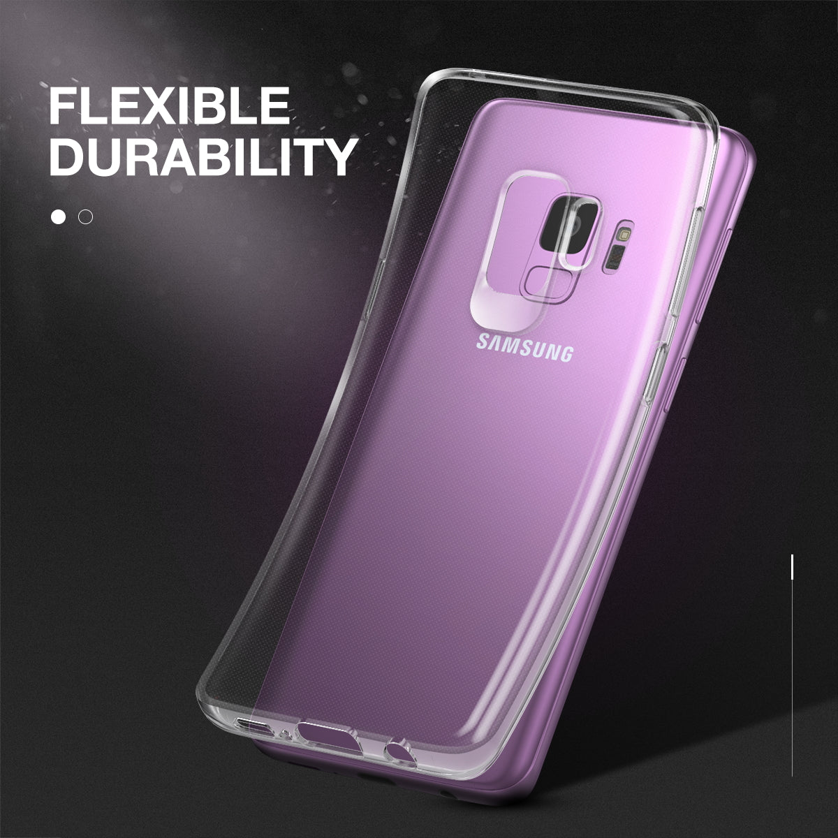 Samsung Galaxy S9 Plus Case Cover, Maxhsield Flex Air TPU Crystal Clear Case