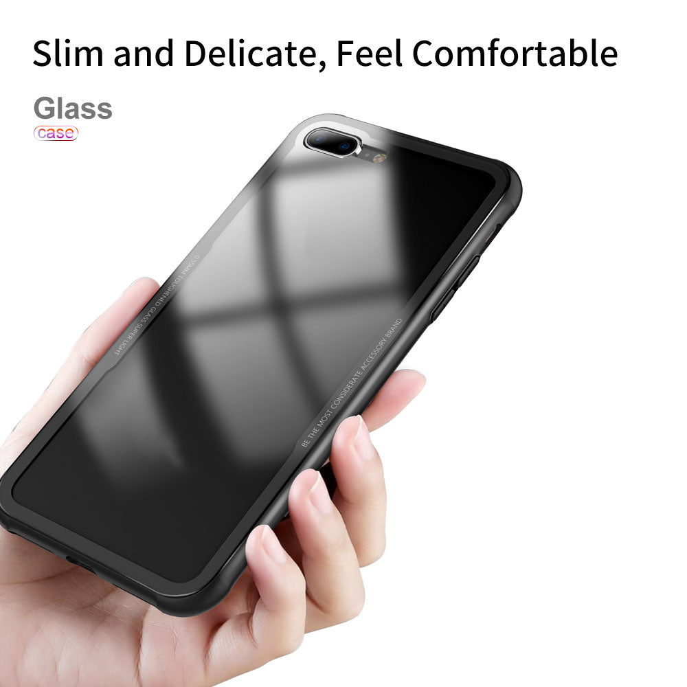 For iPhone 8 Plus Case Slim Clear Hard Bumper Shockproof Thin Back Cover
