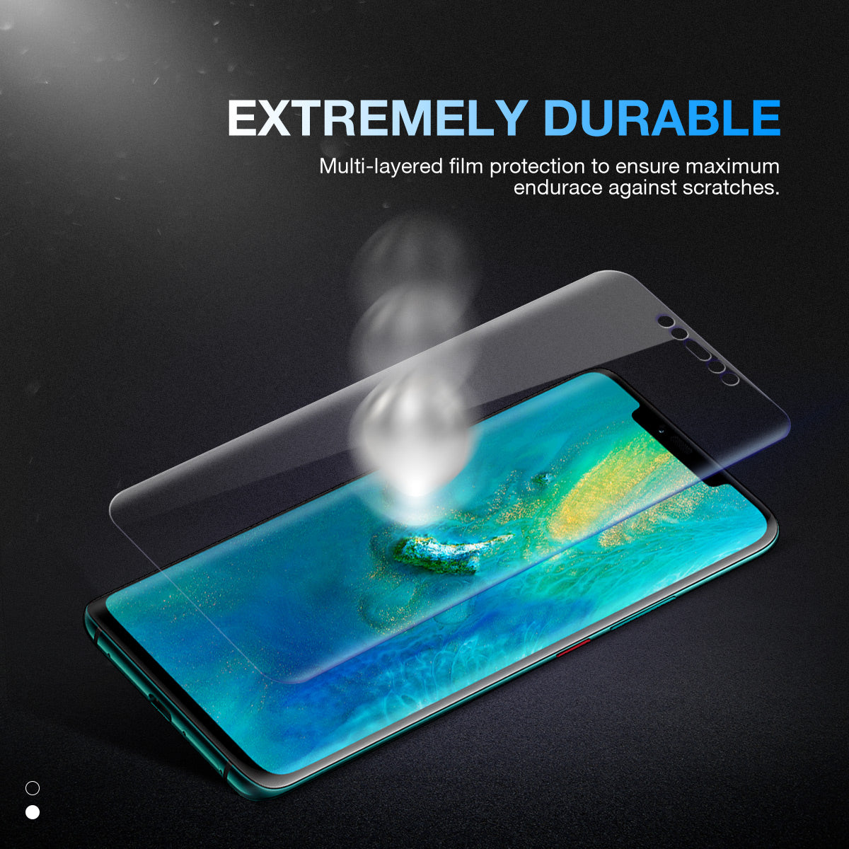 Huawei Mate 20 Pro Screen Protector, Genuine MaxShield Aqua Crystal Shield