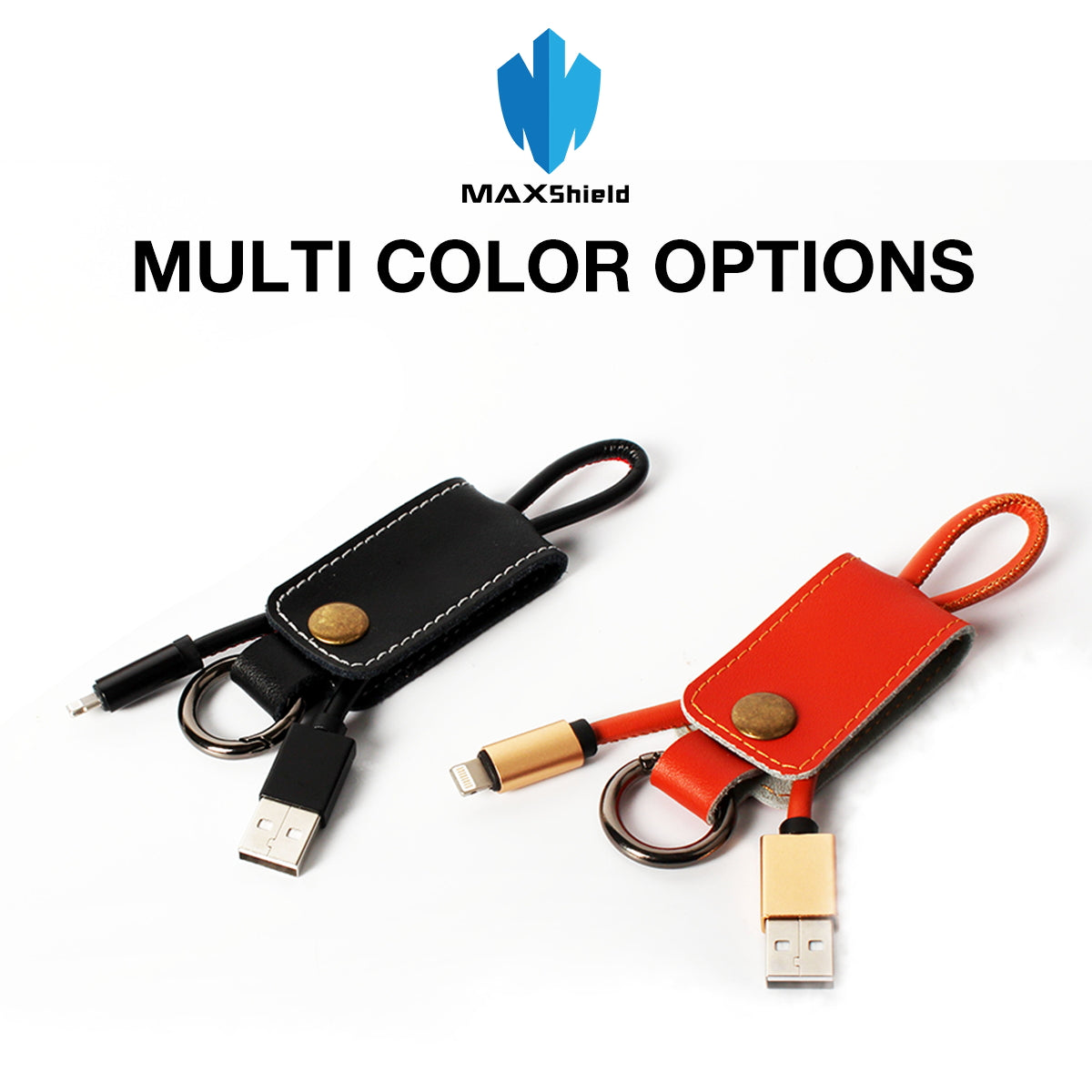 Mini Short USB Lightning Type C Data Charging Cable Leather Keychain USB Cord