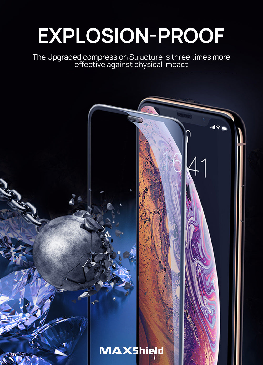 iPhone 8 Plus Full Coverage Tempered Glass Screen Protector