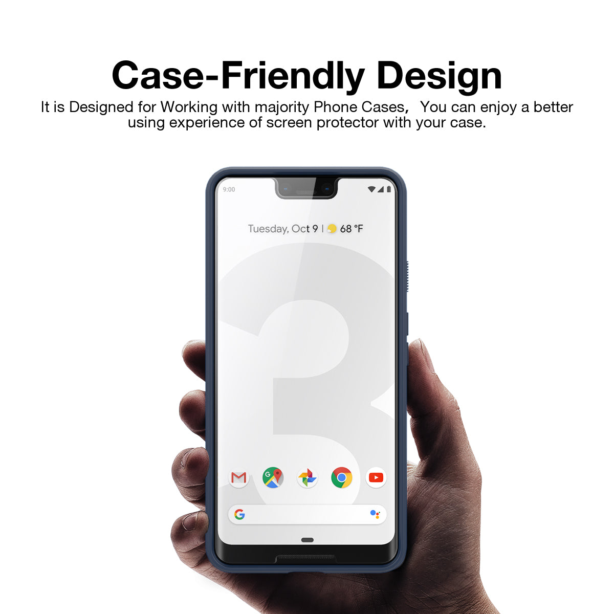 Google Pixel 3XL Screen Protector, Genuine MaxShield HD Aqua Crystal Shield