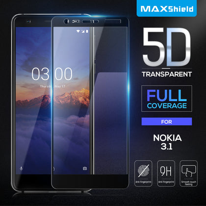 Full Cover Tempered Glass Screen Protector For Nokia 3.1