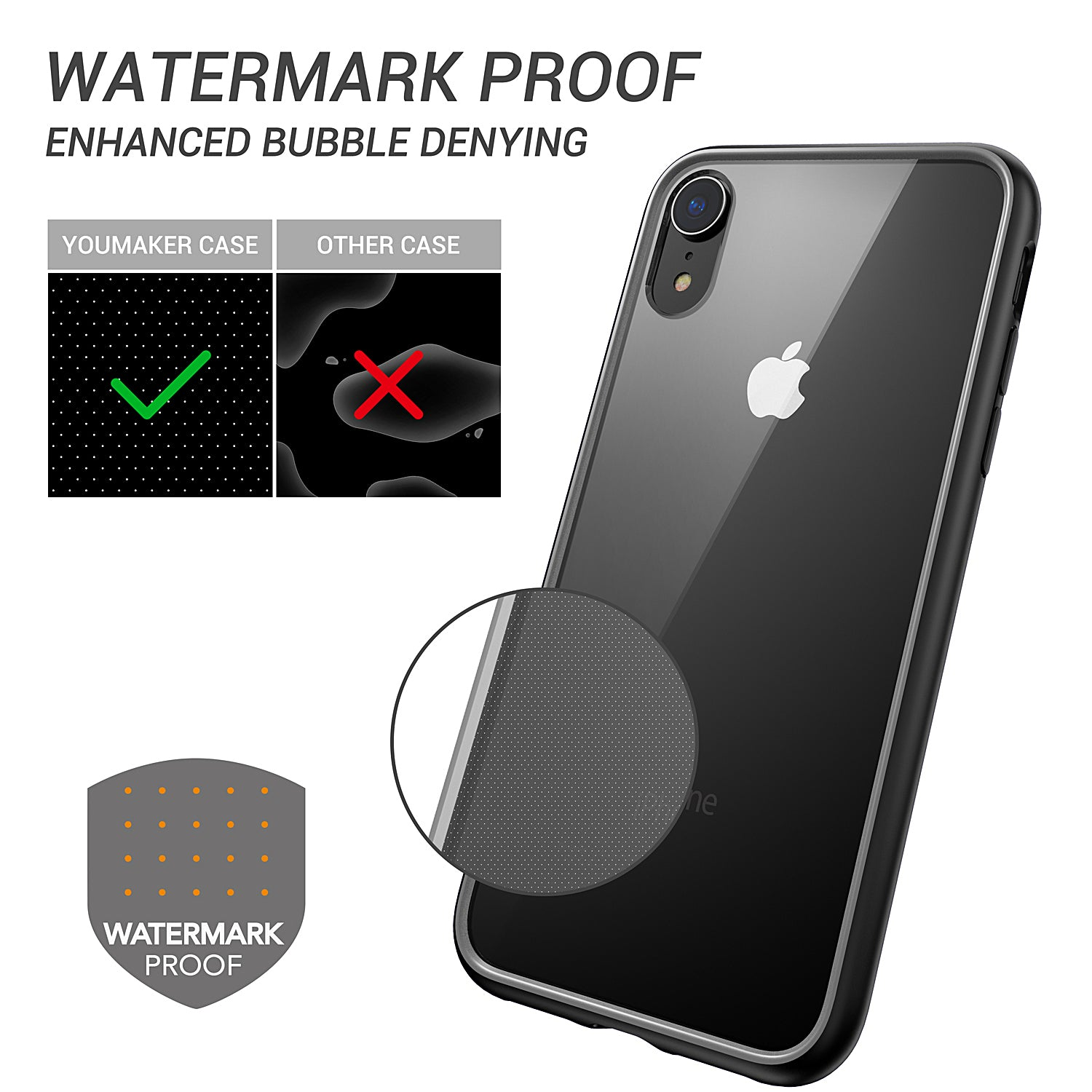 iPhone Xs Case Cover,YOUMAKER Shock-Absorption Slim Bumper Case