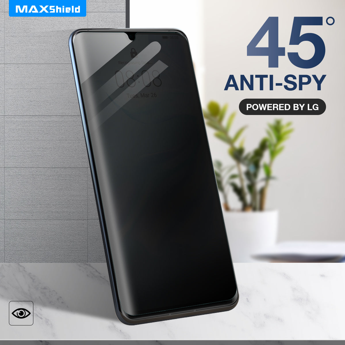 Anti Spy Privacy Film CaseFriendly Screen Protector For Huawei P30
