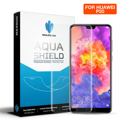Huawei P20 Screen Protector,Genuine MaxShield HD Aqua Crystal Film Guard