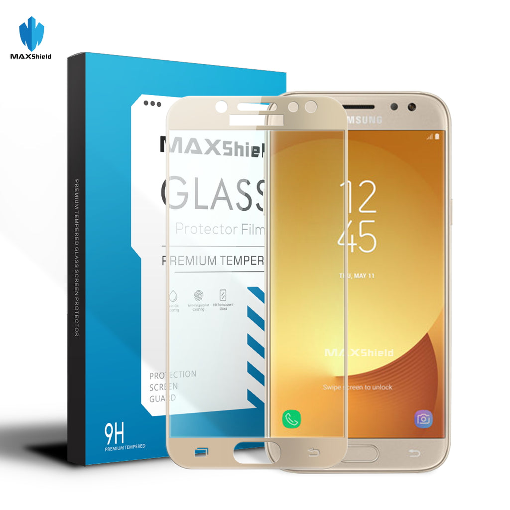 Full Cover Tempered Glass Screen Protector For Samsung Galaxy J5 Pro Color J3 2017