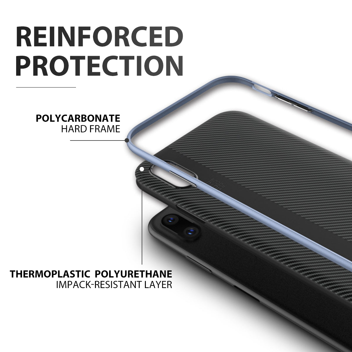 iPhone 8 Plus Case Cover Shockproof Hybrid Armor Hard Silicon Bumper