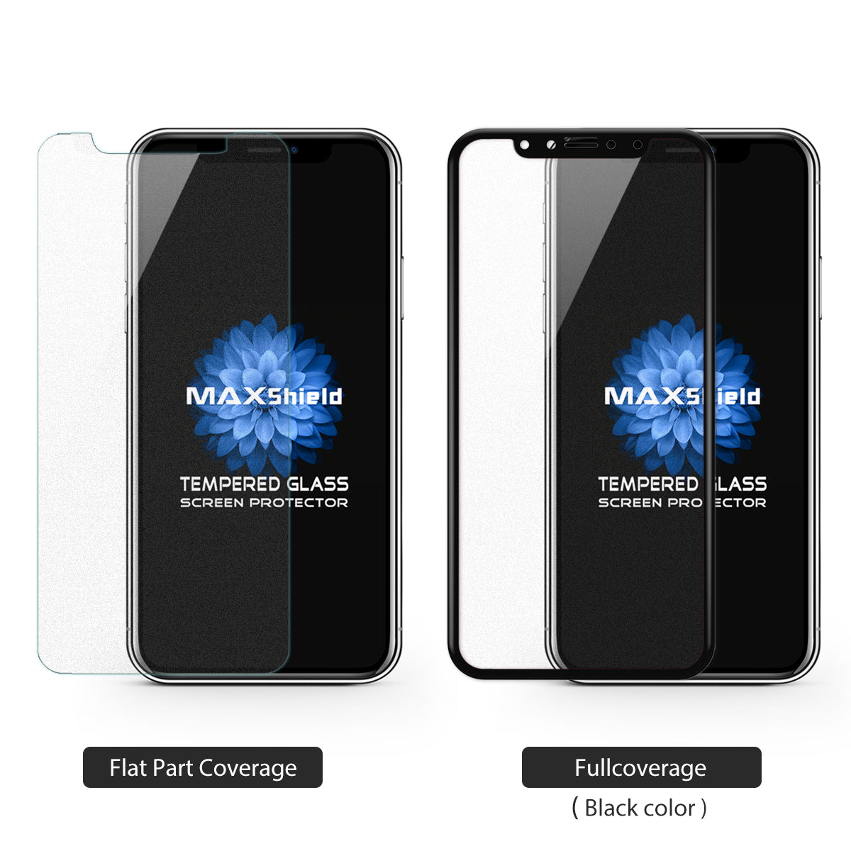 MAXSHIELD MATTE TEMPERED GLASS SCREEN PROTECTOR FOR APPLE iPhone X