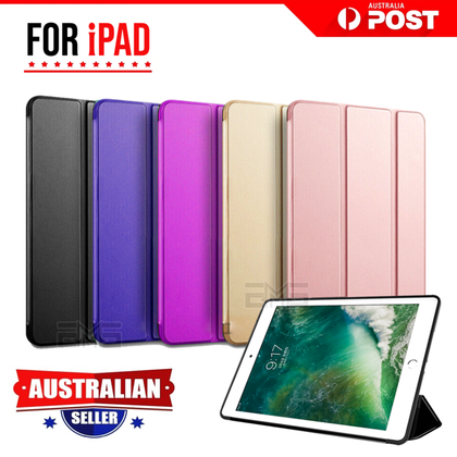 Apple iPad 5th Gen 2017 Leather Shockproof Flip Smart Case Cover