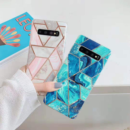Samsung Galaxy S10 Marble Silicone TPU Soft Back Case Cover