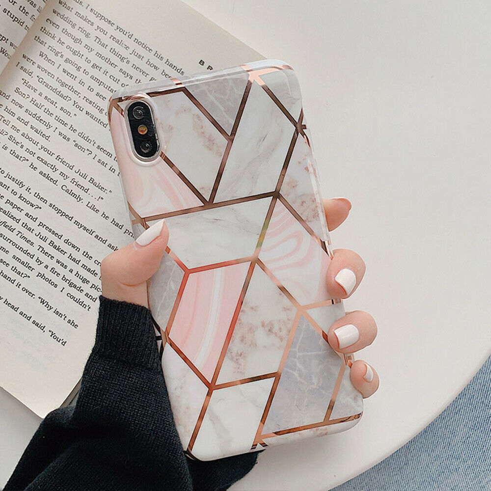 iPhone XR Case Shockproof Tough Marble Soft Cover for Apple