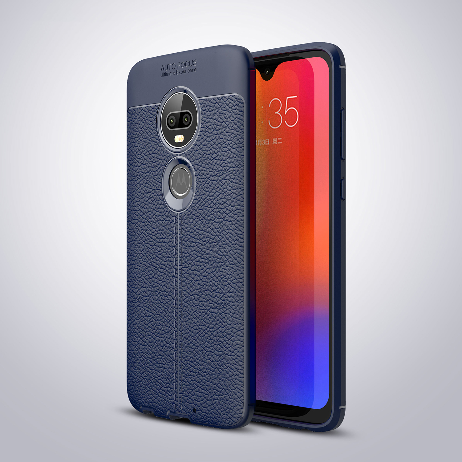 Motorola Moto G6 Plus  Carbon Fiber Case Cover