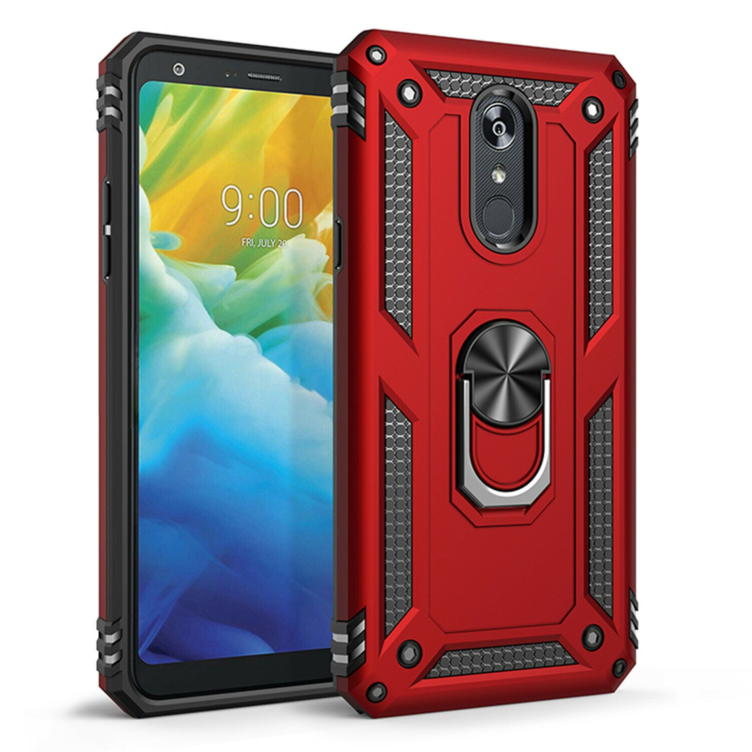 For LG K50 Case Magnetic Hybrid Ring Holder Armor Rugged Cover