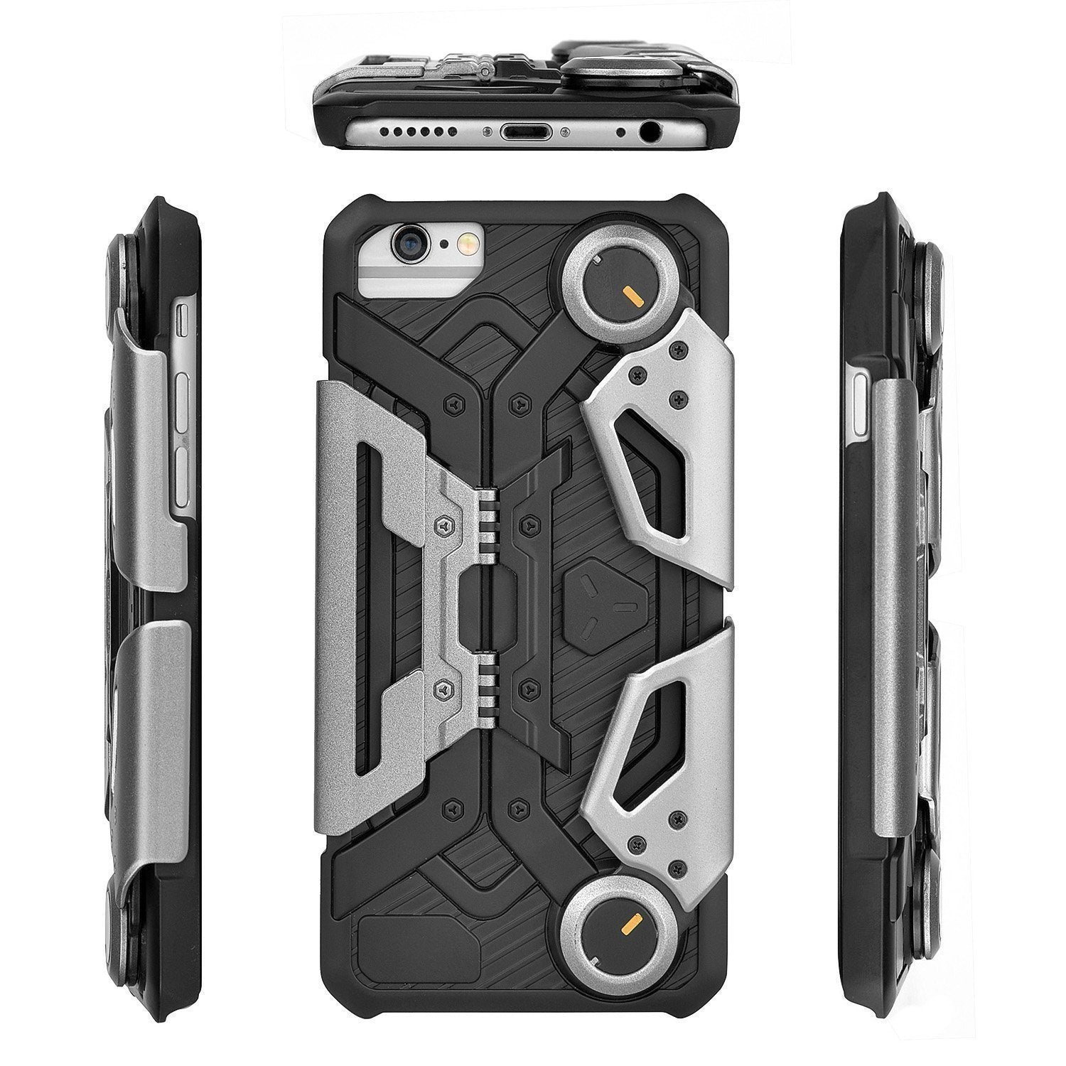 iPhone 7 Game Case, Foldable Kickstand ShockProof Heavy Duty Protective Cover