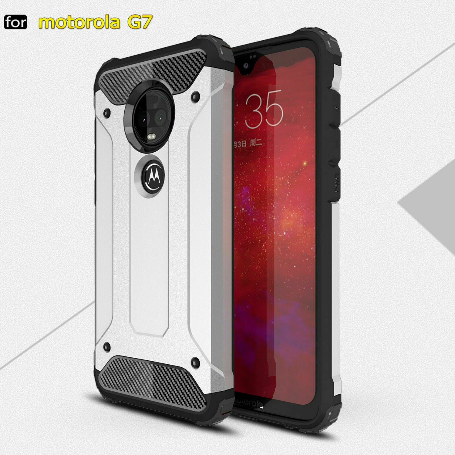 Motorola Moto G6 Play Case, Rugged Heavy Duty Case Cover