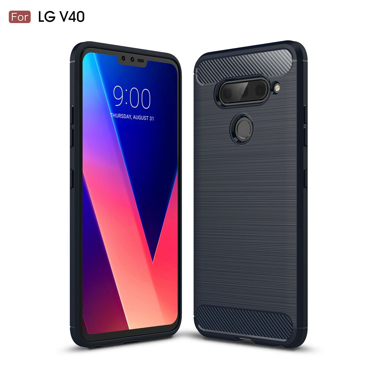 For LG V40 ThinQ Phone Case Soft TPU Rubber Shockproof Slim Cover