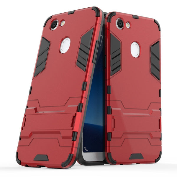 100% authentic 94a73 fc31a OPPO A73 Case,Soft TPU 2 in 1 Hybrid Shockproof Rugged Bumper Cover