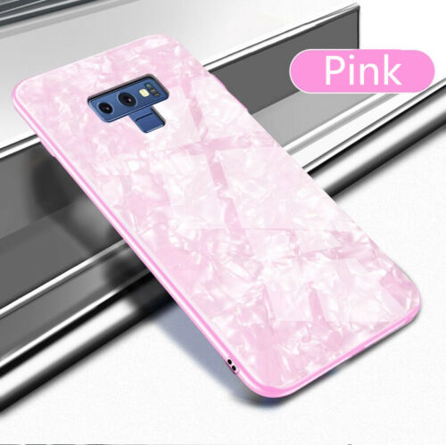 For Samsung S10 Plus Case Luxury Tempered Glass Back Shockproof Cover-Pink