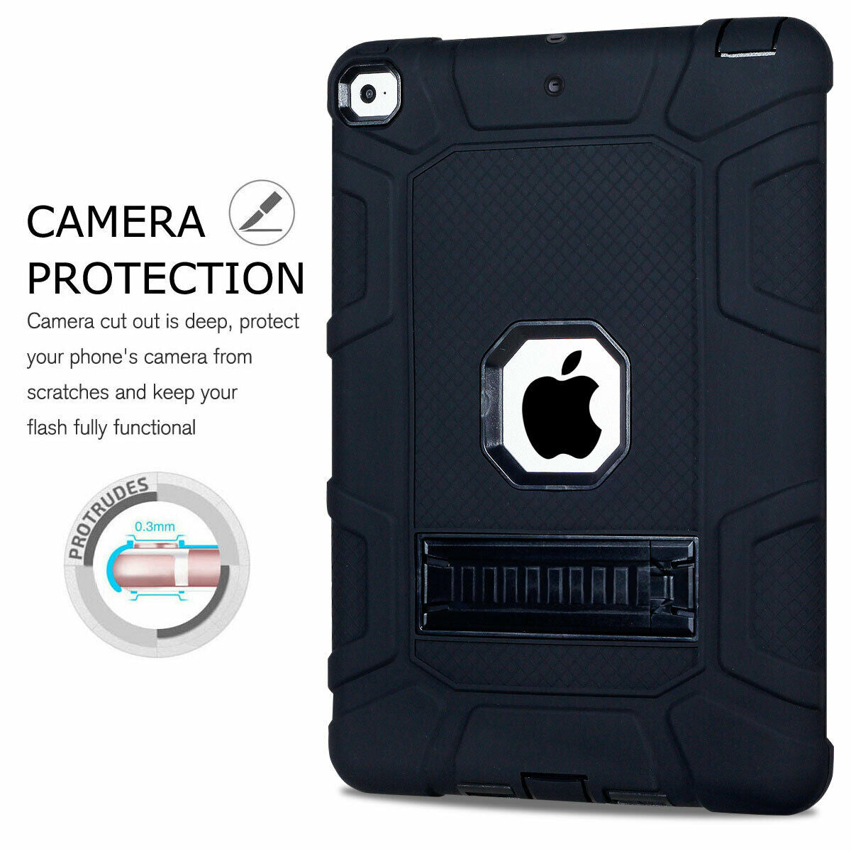 For iPad Pro 9.7'' 2016 Shockproof Rubber Stand Hard Case Cover