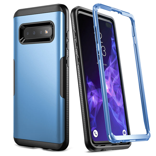 YOUMAKER® Samsung Galaxy S10 Plus HEAVY DUTY Shockproof Case Cover (Bl – Casefactory