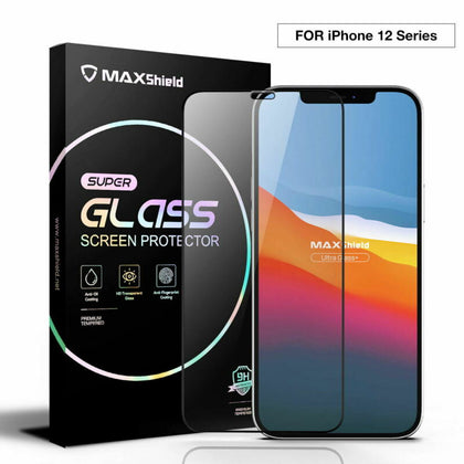 2 Pack For iPhone 12 Full Coverage Tempered Glass Screen Protector