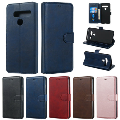 For LG Q60 Luxury Wallet Leather Case Card Slots Cover