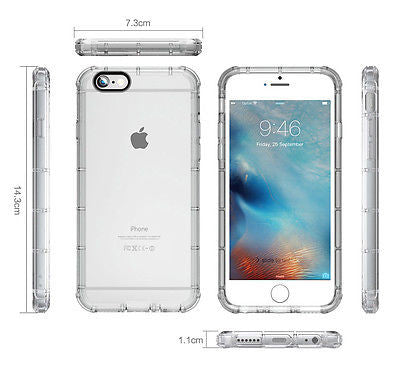 iPhone 6 / 6s Plus Case Cover, TAGGSHIELD Crystal Clear Shield Bumper Case Cover