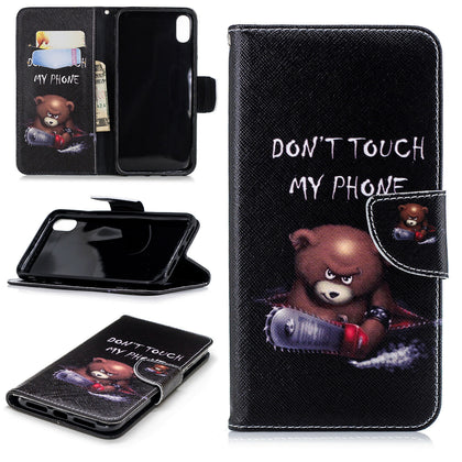 Samsung Galaxy A70 Wallet Leather Case Flip Magnetic Card Slot Cover-Bear