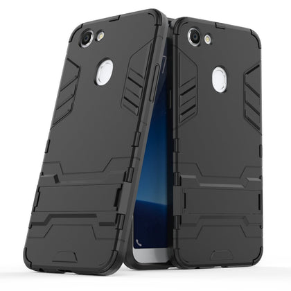 OPPO A73 Case,Soft TPU 2 in 1 Hybrid Shockproof Rugged Bumper Cover