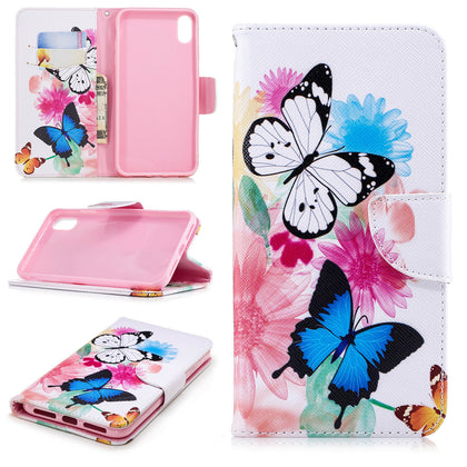 Samsung Galaxy A30 Wallet Leather Case Flip Magnetic Card Slot Cover-Beautiful Butterfly