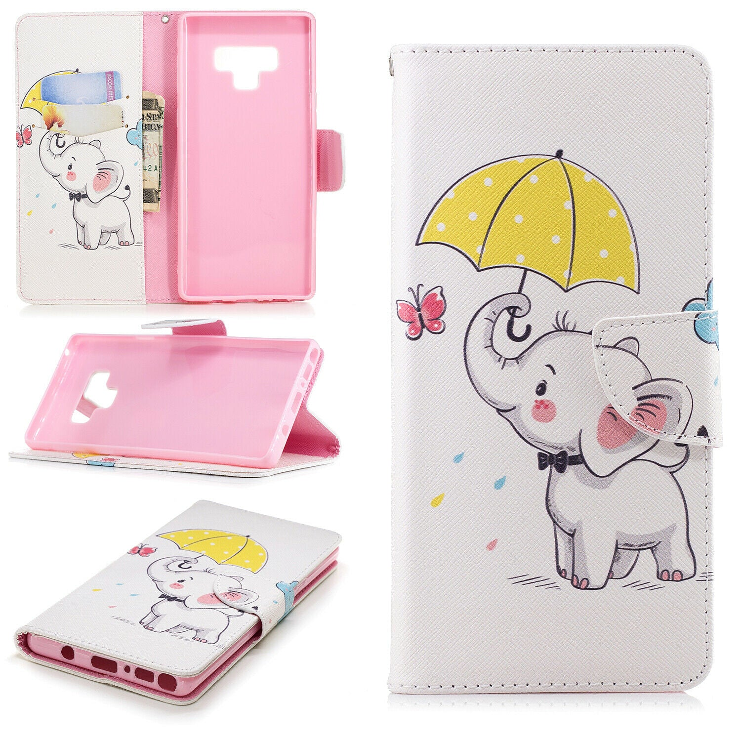 Samsung Galaxy A30 Wallet Leather Case Flip Magnetic Card Slot Cover-Elephant